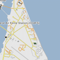 ICBM Row (Part of Cape Canaveral Air Force Station) Cape Canaveral Air Force Station Map on