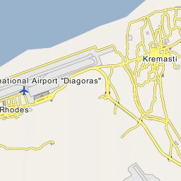 Rhodos Karte Flughafen.Flughafen Rhodos Iata Rho Map Location With Missing Unclear